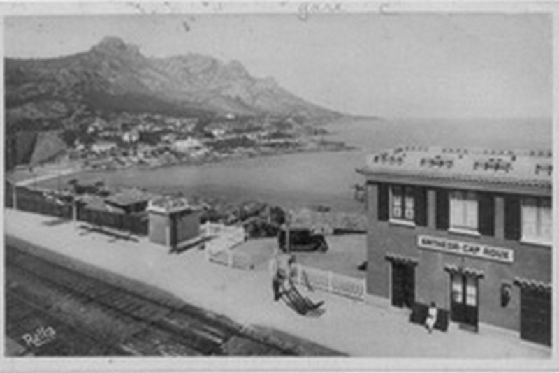 Anth or saint raphael cartes postales anciennes gare plm d - Office tourisme frejus saint raphael ...
