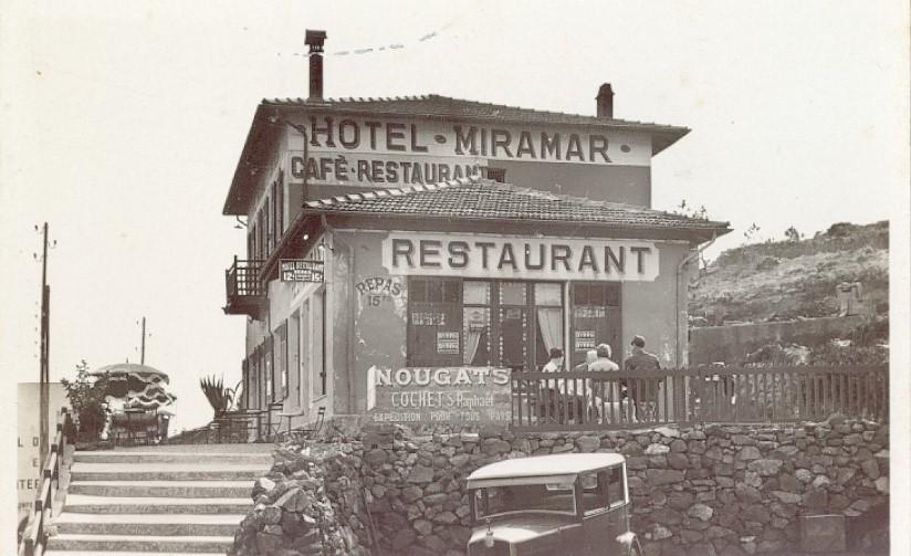 anth or saint raphael cartes postales anciennes caf miramar d 39 anth or. Black Bedroom Furniture Sets. Home Design Ideas