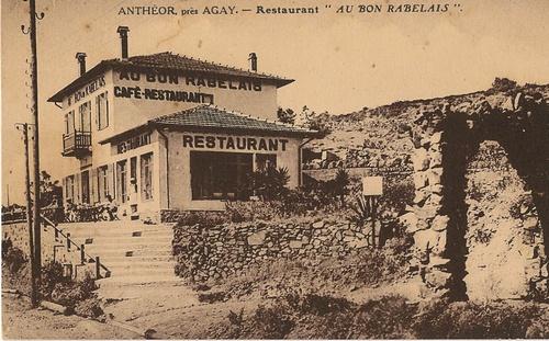 anth or saint raphael cartes postales anciennes restaurant bon rabelais d 39 anth or. Black Bedroom Furniture Sets. Home Design Ideas