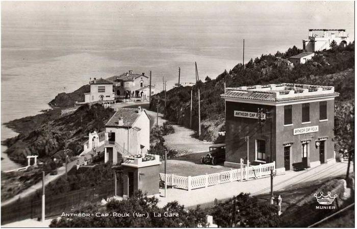 anth or saint raphael cartes postales anciennes la gare d 39 anth or. Black Bedroom Furniture Sets. Home Design Ideas
