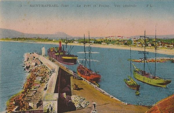 Saint raphael cartes postales anciennes la digue du vieux for Piscine saint raphael