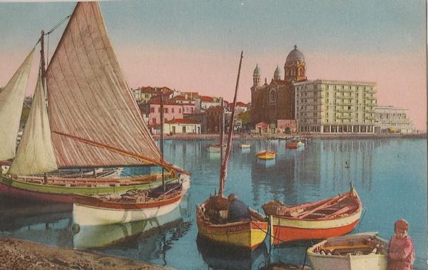 Saint raphael cartes postales anciennes le vieux port de - Meteo marine port camargue saint raphael ...