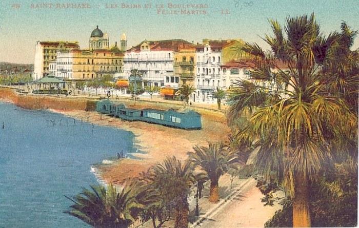 Saint raphael cartes postales anciennes front de mer for La table saint raphael